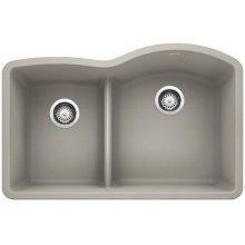 Blanco Diamond 1-3/4 Bowl Reverse With Low-divide - Concrete Gray