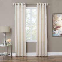 Aspen 50x96 Grommet Top PanelWeighted Corners Taupe