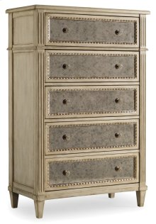 Bedroom Sanctuary Five Drawer Chest-Pearl Essence