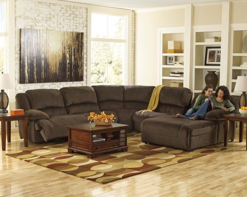 6-Piece Power Reclining Sectional with LAF Recliner