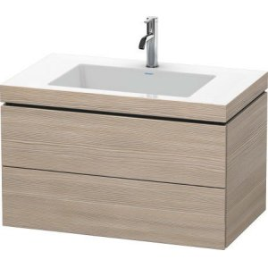Furniture Washbasin C-bonded With Vanity Wall-mounted, Pine Silver (decor)