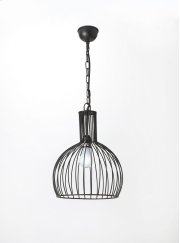 This distinctive single light pendant is an attractive accent in virtually any space. Featuring a black iron finish, it is hand crafted from iron. Product Image