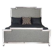 King-Sized Criteria Metal Upholstered Panel Bed