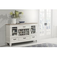 Rockport Buffet - White With Driftwood Top