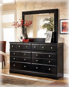 Dresser and Mirror Product Image