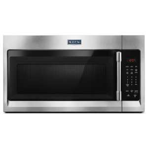 MaytagCompact Over-The-Range Microwave - 1.7 Cu. Ft. Fingerprint Resistant Stainless Steel