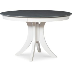 JOHN THOMAS FURNITURE30'' H Siena Pedestal Table in Heather Gray & White