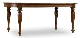 "Dining Room Leesburg Leg Table with Two 18"" Leaves"