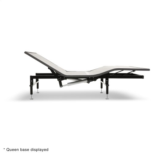 Sunrise Slim-Profile Adjustable Bed Base for Platform Beds with Wireless Remote, Charcoal Gray, Split California King