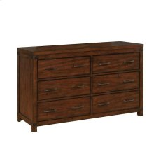 Artesia Dark Cocoa Six-drawer Dresser