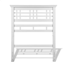 Avery Wood Headboard Panel with Mission Style Design, Cottage White Finish, Twin