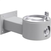Elkay Outdoor Fountain Wall Mount, Non-Filtered Non-Refrigerated, Gray