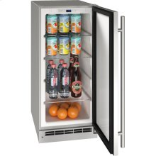 """Outdoor Collection 15"""" Refrigerator With Stainless Solid Finish and Field Reversible Door Swing (115 Volts / 60 Hz)"""