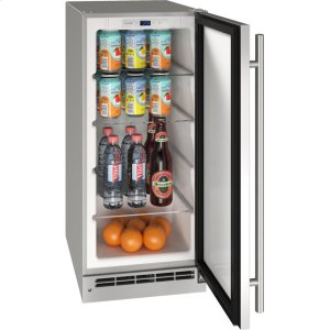 "U-LineOutdoor Collection 15"" Refrigerator With Stainless Solid Finish and Field Reversible Door Swing (115 Volts / 60 Hz)"
