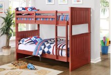 Bora Red Twin over Twin Bunkbed