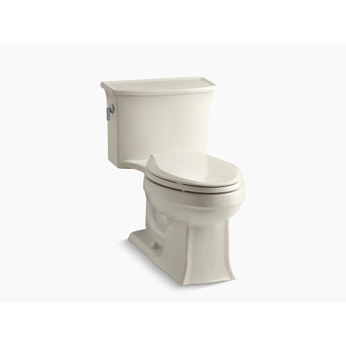 Almond One-piece Elongated 1.28 Gpf Toilet With Aquapiston Flush Technology and Left-hand Trip Lever