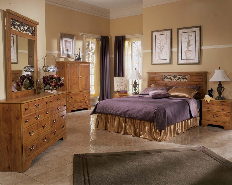 Perfect Bittersweet   Light Brown 5 Piece Bedroom Set