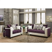 Implosion Purple Velvet Living Room Set