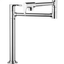 Chrome Single lever kitchen mixer deck-mounted
