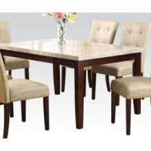 Wh Marble Top Din. Table 38x64