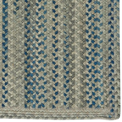 Fusion Blue Taupe Braided Rugs (Custom)