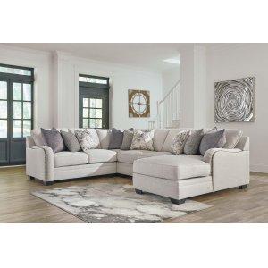 Ashley Furniture Dellara - Chalk 4 Piece Sectional