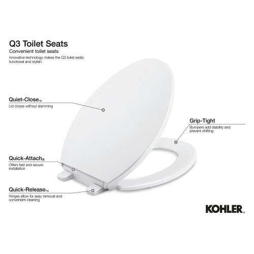 Fabulous K40080 In White By Kohler In Atlanta Ga White Elongated Machost Co Dining Chair Design Ideas Machostcouk