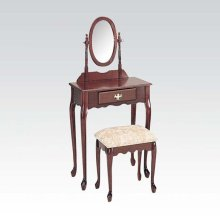 WOOD VENEER VANITY SET/CHERRY