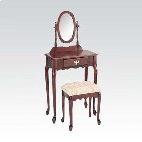 WOOD VENEER VANITY SET/OAK
