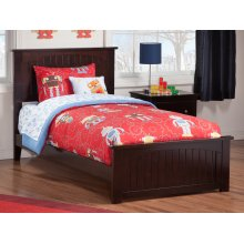 Nantucket Twin Bed with Matching Foot Board in Espresso