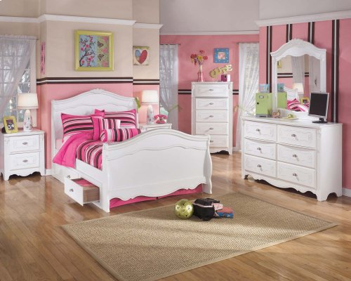 Exquisite - White 5 Piece Bed Set (Full)