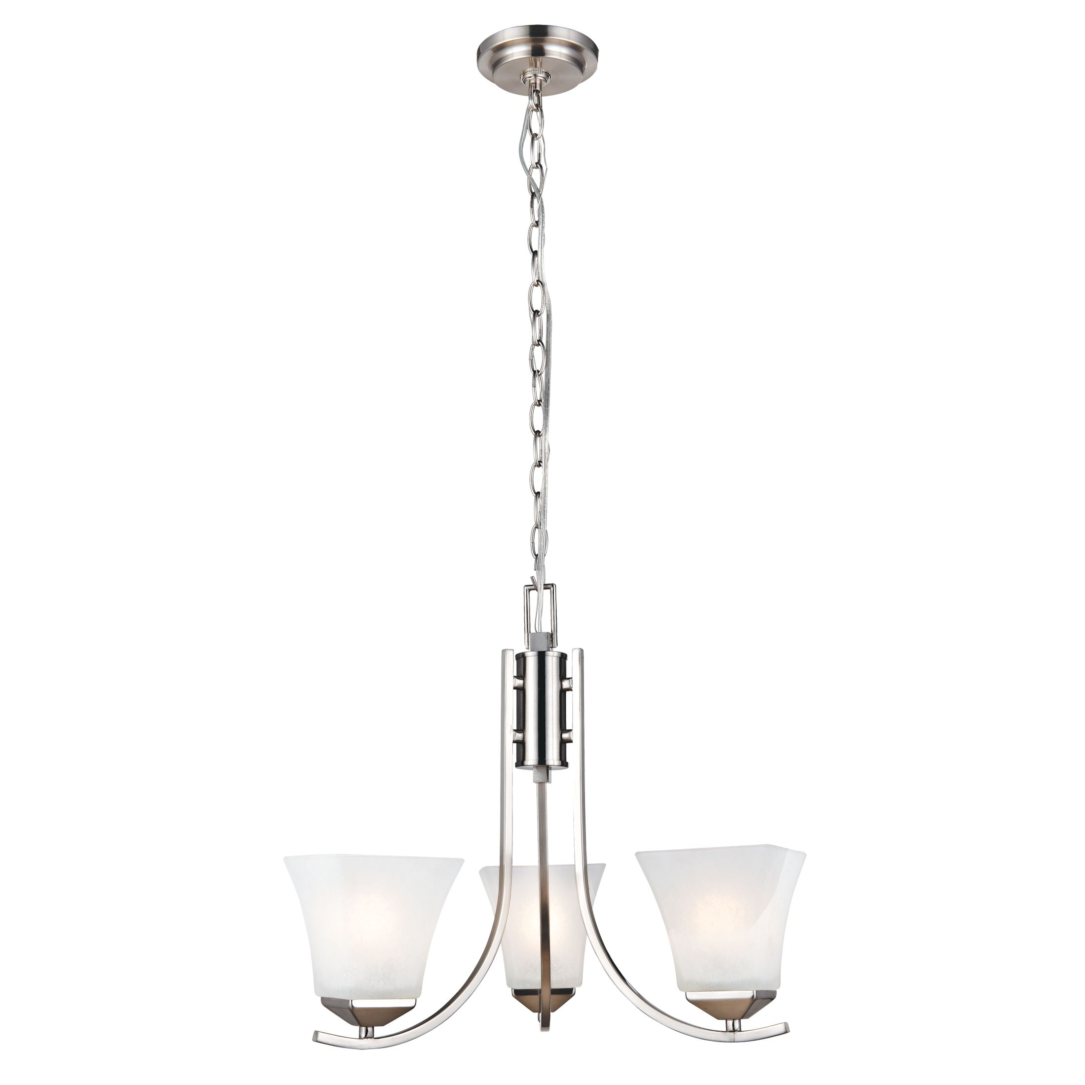Torino 3-Light Chandelier, Satin Nickel Finish #514828