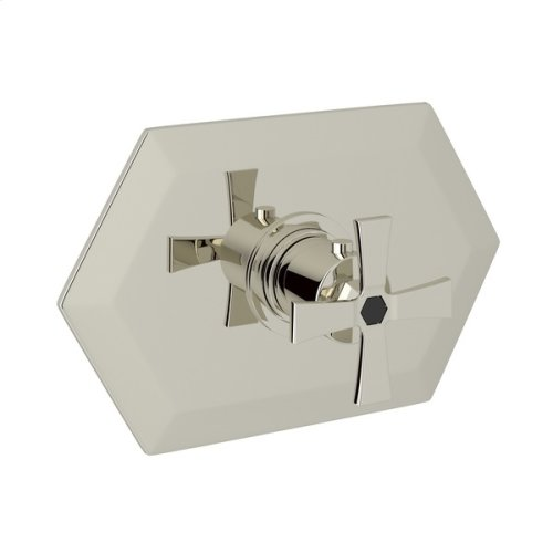 Polished Nickel Bellia Thermostatic Trim Without Volume Control