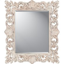 Aged White Shell Mirror