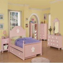 PINK W/WH FLOWER TRUNDLE
