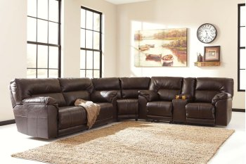 Barrettsville DuraBlend® - Chocolate 3 Piece Sectional Product Image