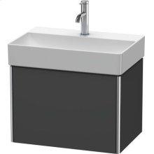 Vanity Unit Wall-mounted Compact, Graphite Matt (decor)