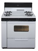36 in. Freestanding Gas Range in White Product Image
