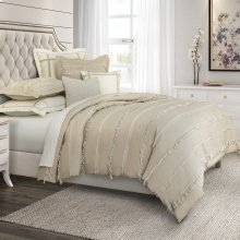 7pc Queen Duvet Set Toast