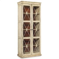 Dining Room Sanctuary Two-Door Thin Display Cabinet - Dune Product Image