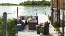 Salceda - Beige/Brown 4 Piece Patio Set