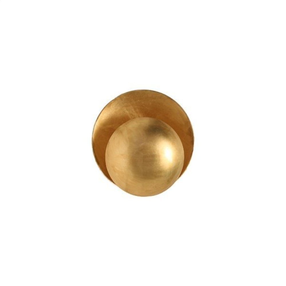 Disc Sconce In Gold Leaf Ul Approved for One 40 Watt Candelabra Bulbs
