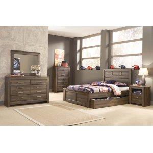 Ashley Furniture Juararo - Dark Brown 5 Piece Bedroom Set