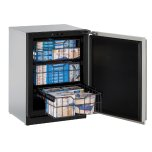"""U-LINEModular 3000 Series 24"""" Freezer With Stainless Solid Finish and Field Reversible Door Swing (115 Volts / 60 Hz)"""