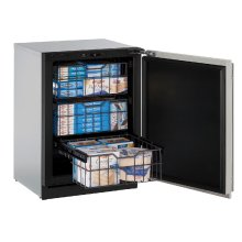 "Modular 3000 Series 24"" Freezer With Stainless Solid Finish and Field Reversible Door Swing (115 Volts / 60 Hz)"