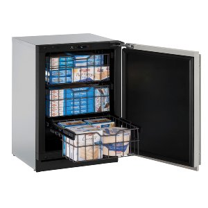 "U-LineModular 3000 Series 24"" Freezer With Stainless Solid Finish and Field Reversible Door Swing (115 Volts / 60 Hz)"