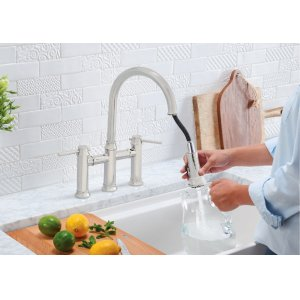 Blanco Empressa Bridge Faucet - Polished Nickel