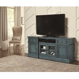 72 Inch Console - Aged Blue Finish