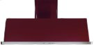 """Burgundy with Stainless Steel Trim 48"""" Range Hood with Warming Lights Product Image"""
