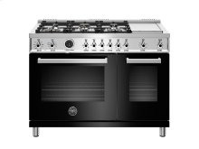 48 inch Dual Fuel Range, 6 Brass Burners and Griddle , Electric Self Clean Oven Black